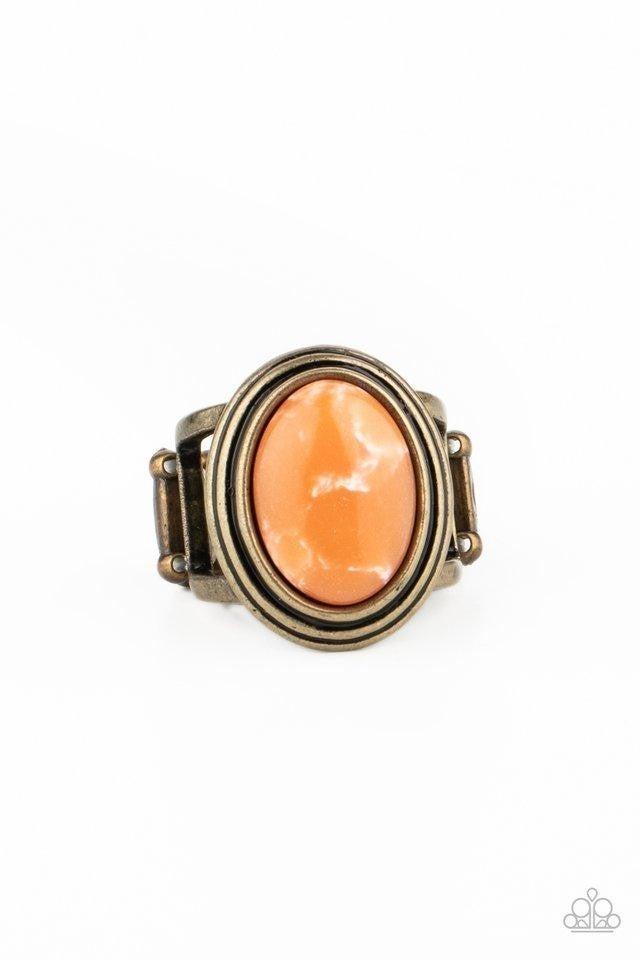Paparazzi Ring ~ Cliff Dweller Demure - Orange