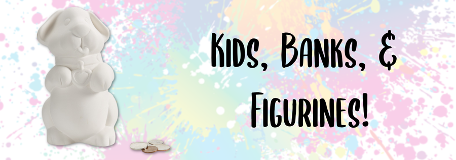 Kids Stuff- Banks, Figurines, and more!
