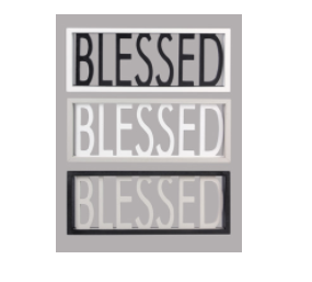 Wood Blessed Box Sign