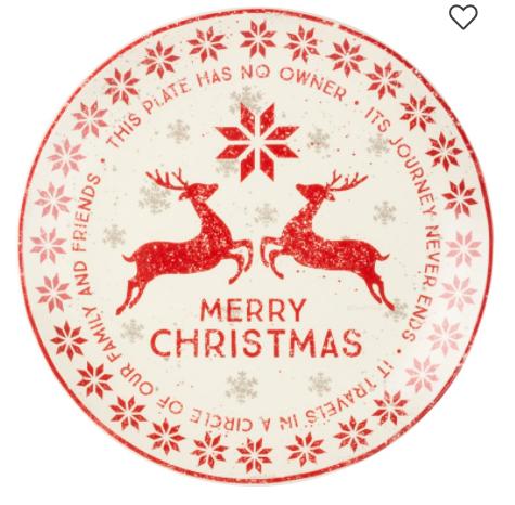 Giving Plate - Merry Christmas
