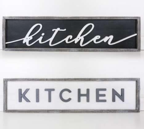 Double Sided Kitchen Sign