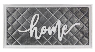 Home Tin Wall Sign w/ Raised Letters