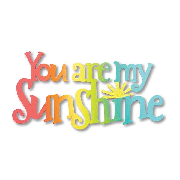 You Are My Sunshine  script magnet Rainbow