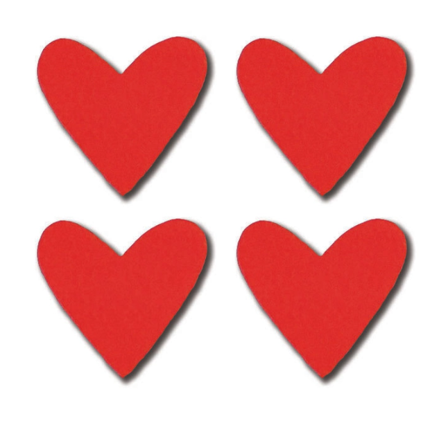 Red Heart Magnets