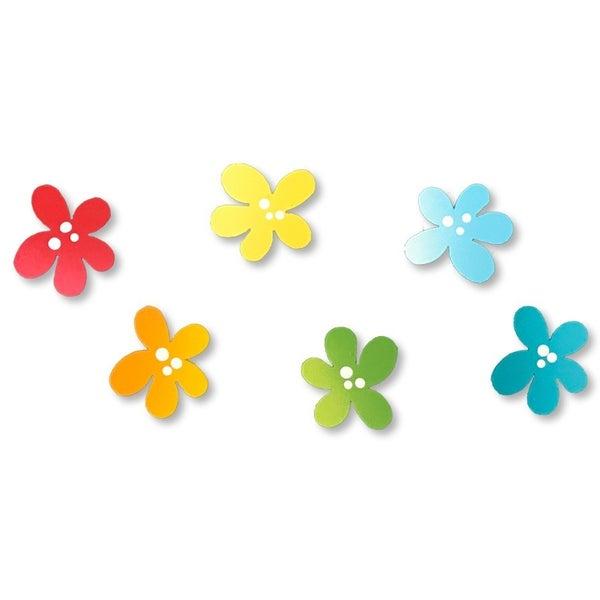 Rainbow flower S/6