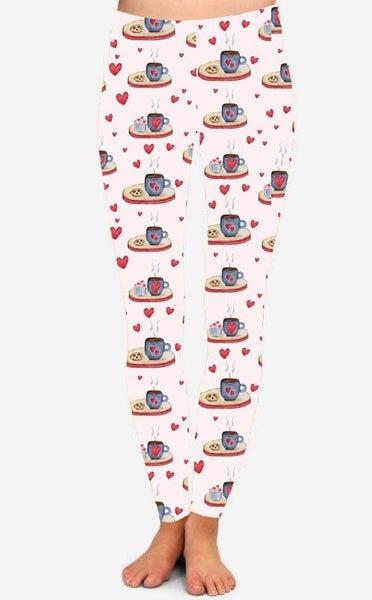 I Love You A Latte Adult Leggings