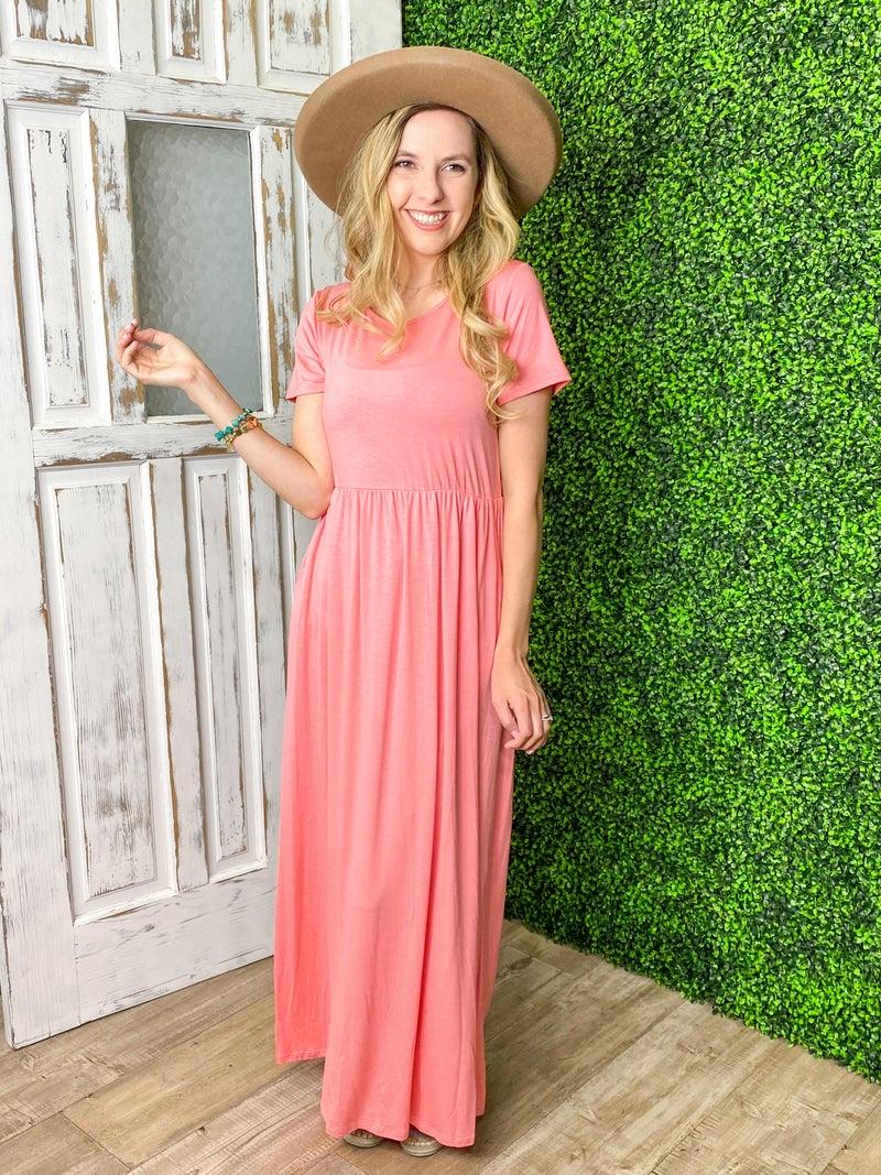 Rosy Maxi Dress