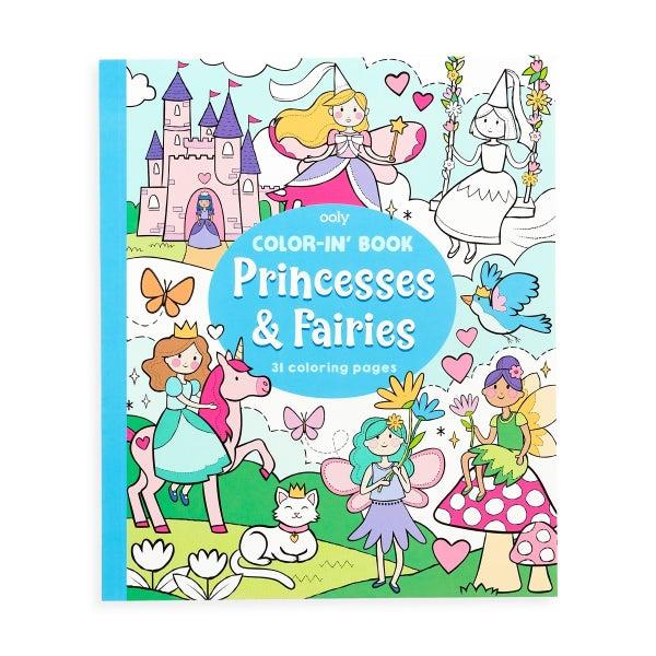 Color-in' Book - Princesses & Fairies