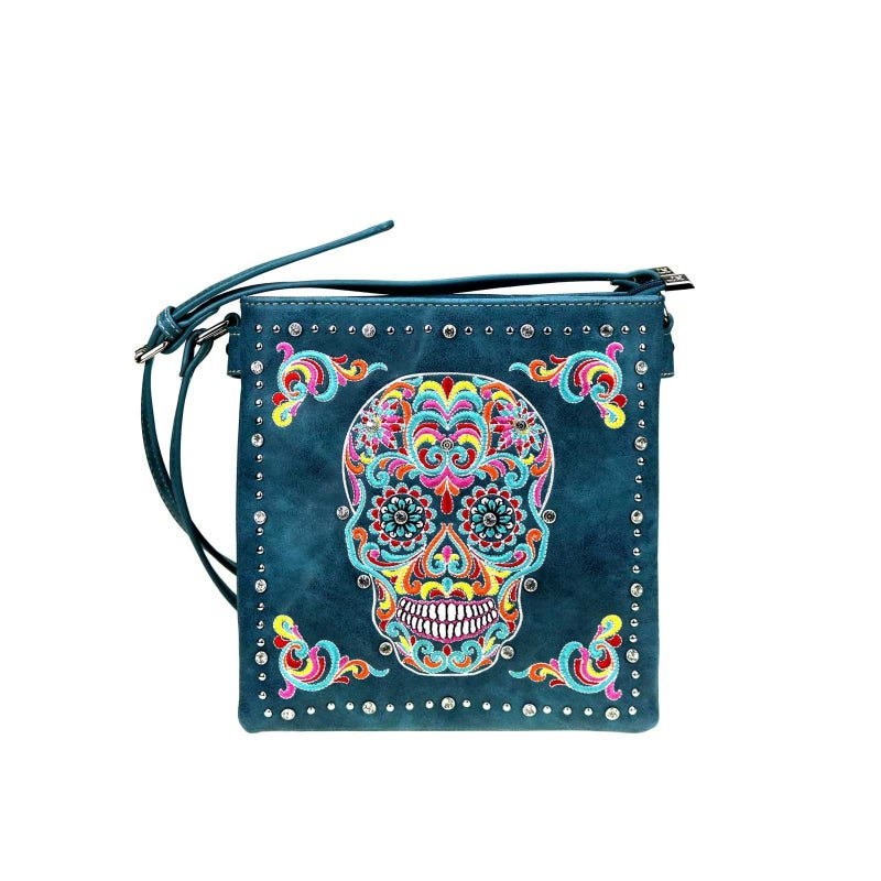 Sugar Skull Concealed Carry Crossbody (Variety Colors)
