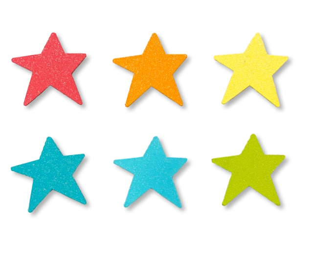 Rainbow Glitter Star Magnets