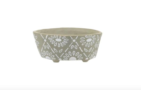 Bathtub Soap Dish Floral Gray