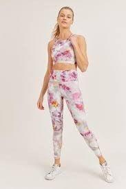 Watercolor Floral Sports Bra