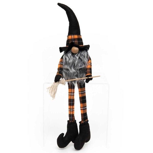 "Gnome 22"" Witch w/ Broom Plaid"