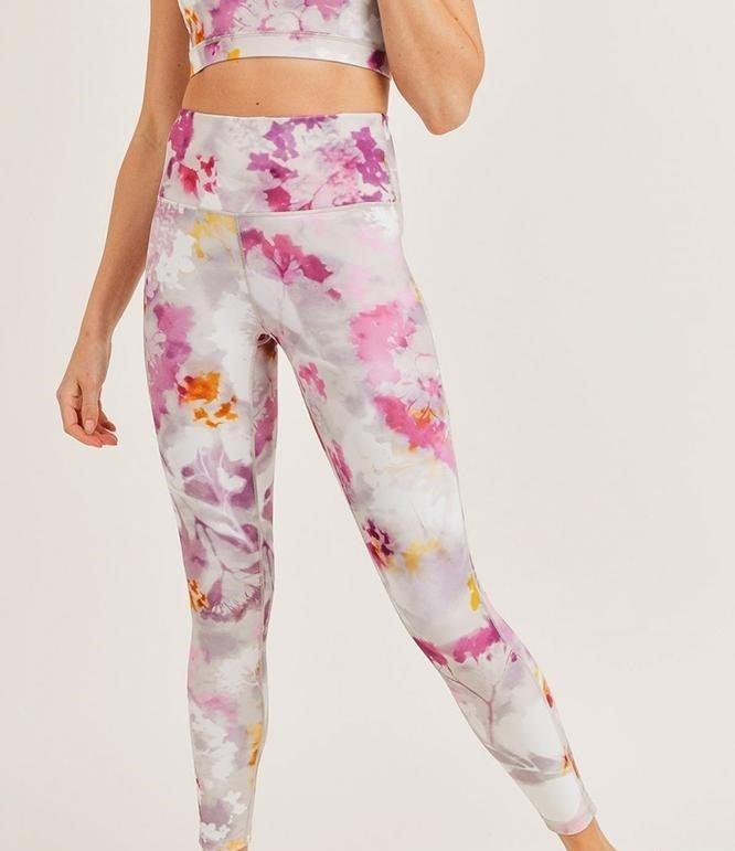 Watercolor Floral Highwaist Leggings