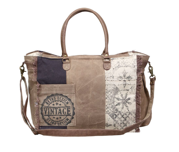 Myra Bag - Retro Print Weekender Bag
