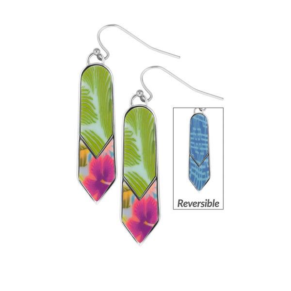 Tahiti Rhodium Double Arrow Earrings