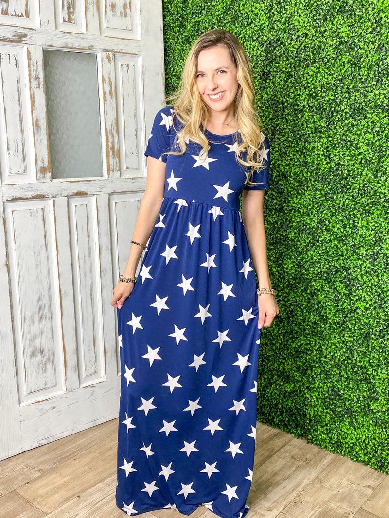 A Starry Night Maxi Dress