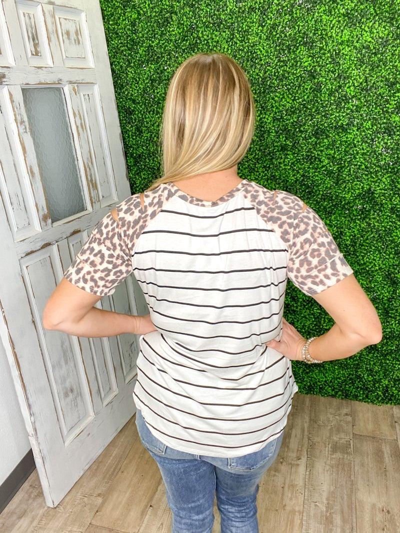 Leopard Lane Top