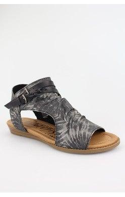 Blumoon Blk Tie Dye Sandals
