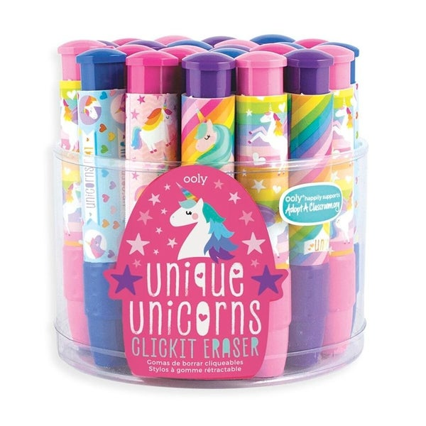 Click-It Unique Unicorn Erasers ( 4 Styles)
