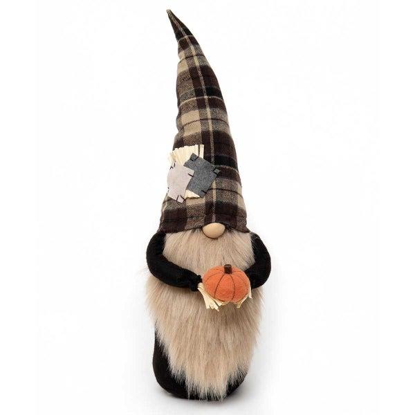 "Gnome 21"" Scarecrow w/Pumpkin"