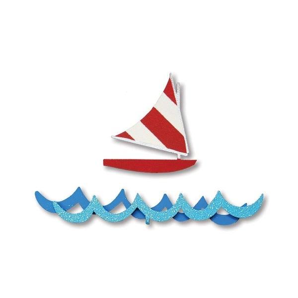Sailboat and Waves Magnets