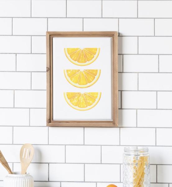 Metal/Wood Lemon Sign