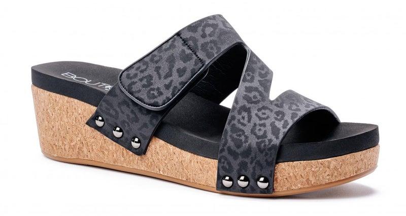 Corky's Black Zipadee Sandal