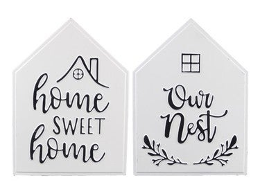 METAL WALL SIGN (2 ASSORTED)