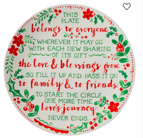 Giving Plate - Holiday