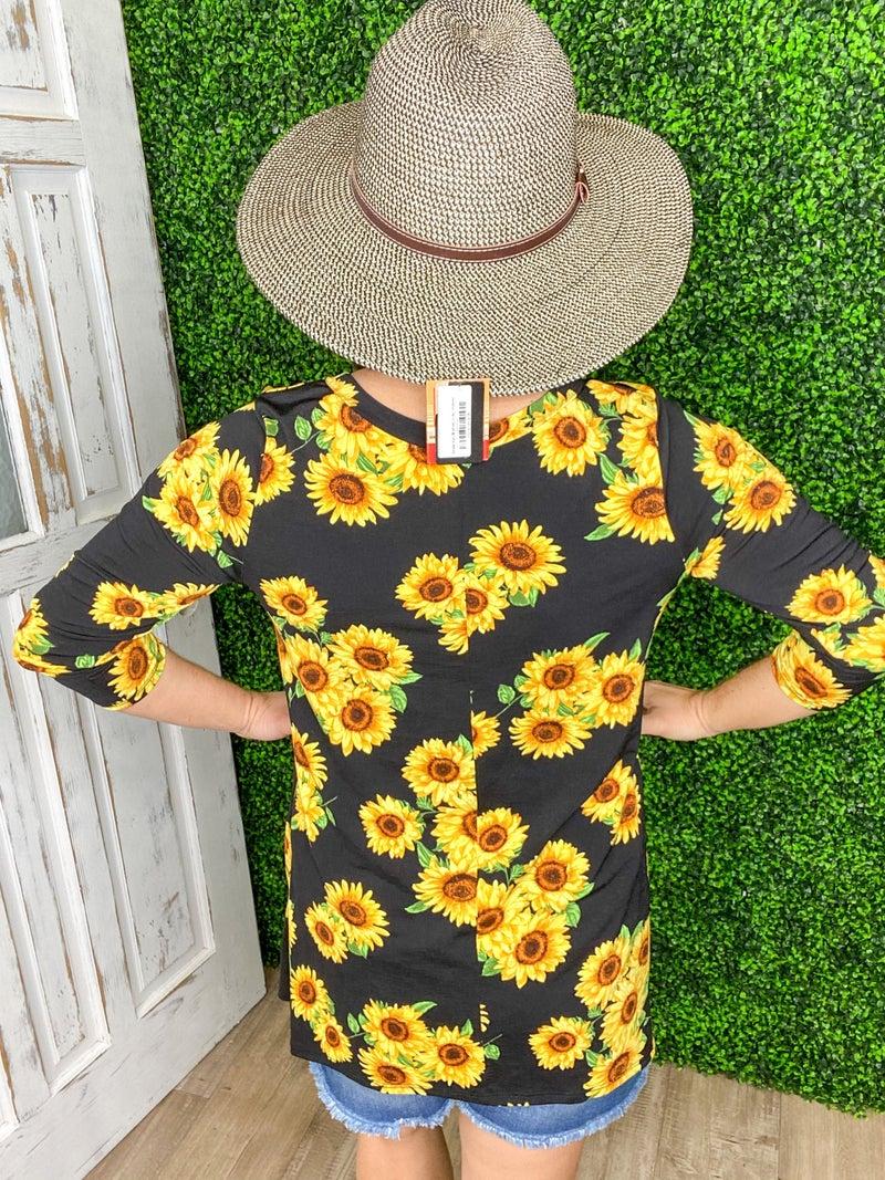 Field of Sunflower Tops