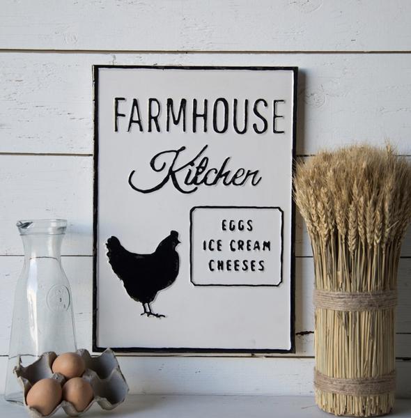 Vintage Metal Farmhouse Kitchen Sign
