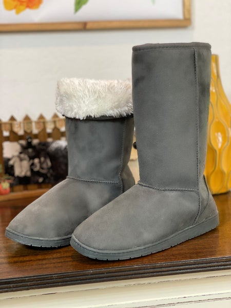 Grey Faux Fur Lined Boot