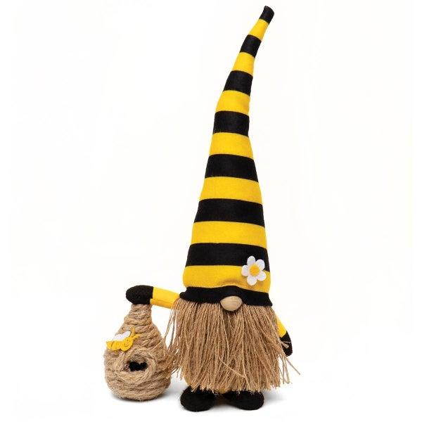 "Gnome 13.5"" Black & Yellow w/ Bee Hive"