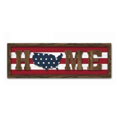 WOOD Home 4TH of July Wall Sign