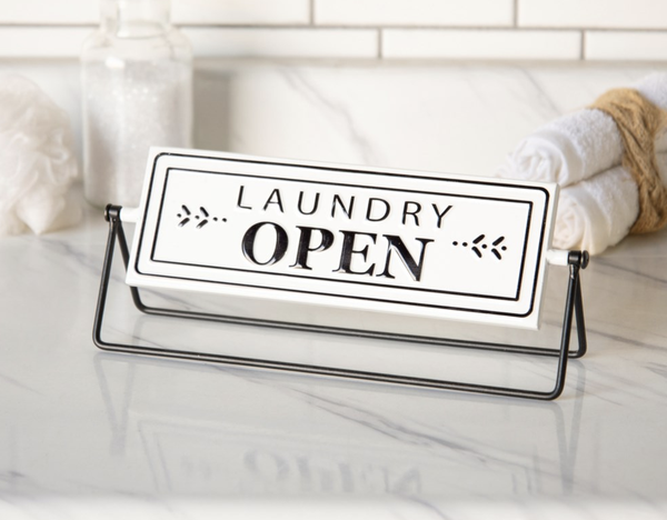 Laundry Open & Closed Flip Sign