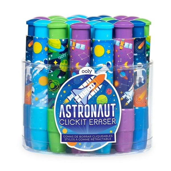 Click-It Erasers : Astronaut (4 Styles)