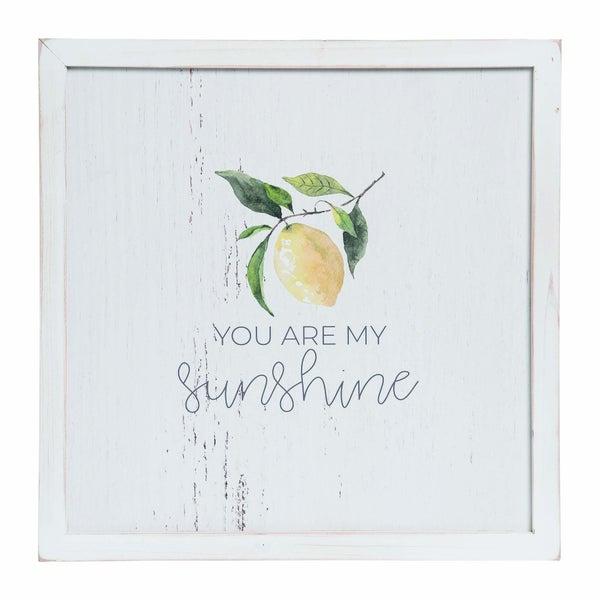 "18"" White Spring Whitewash Lemon Wall Accent"