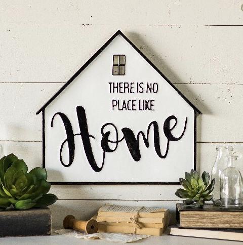 Farmhouse Metal Home Sign