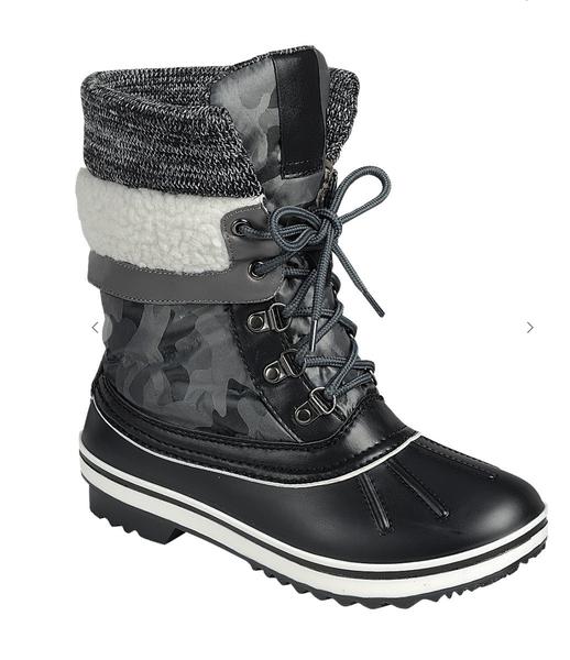 Camo Fleece Cuff Weather Proof Duck Boots