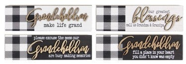 WOOD BOX GRANDPARENTS TABLETOP SIGNS (4 assorted)
