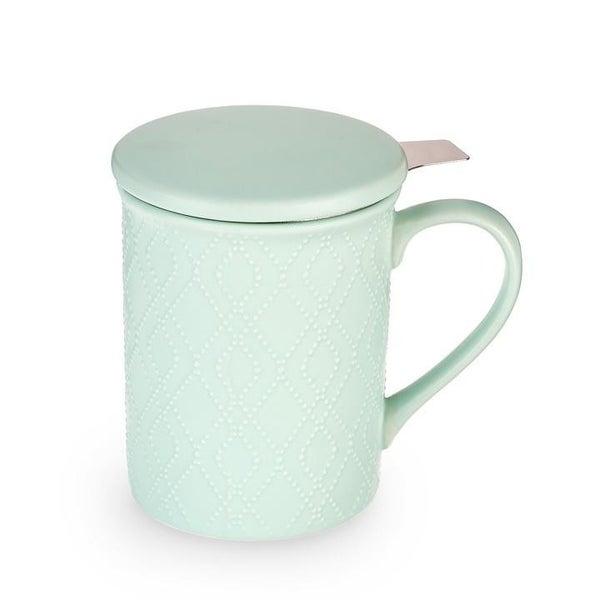 Annette Souk Mint Ceramic Tea Mug & Infuser