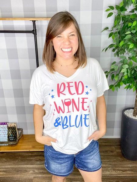 Red Wine & Blue Tee