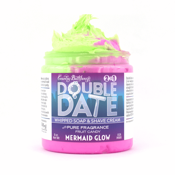 Double Date Whipped Soap and Shave (Assorted Scents)