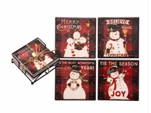 Christmas Coaster Set