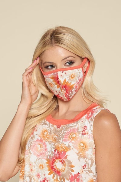Floral Tank and Mask Set