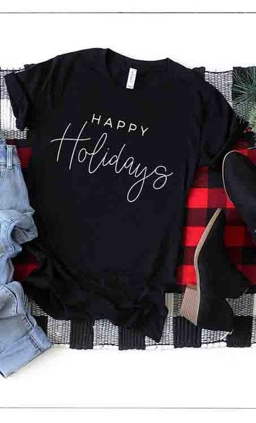 Happy Holidays Graphic Tee