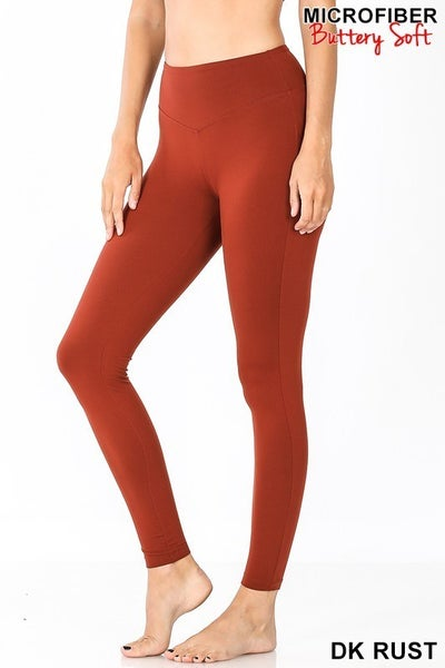 Colored Wide Waistband Leggings