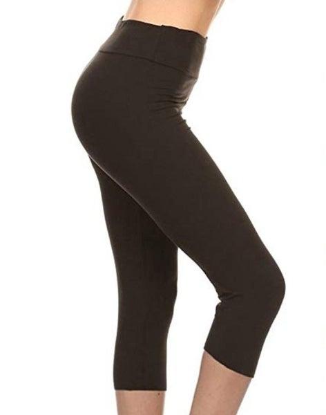 Leggings Depot Black Capri leggings