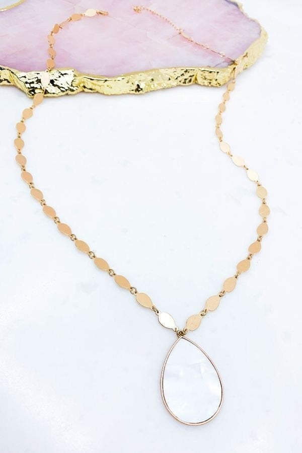 Pressed Abalone Shell Necklace